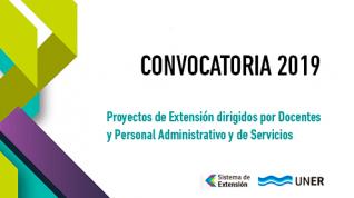 Se convoca a Docentes y  PAyS a presentar Proyectos de Extensión. Cierre 31/10