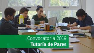 Inscripción abierta para participar del Programa de Tutorías de Pares 2019