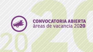 Convocatoria abierta para presentar áreas de vacancia para Becas de Formación 2020